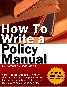 how to write policy manual