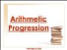 Arithmatic Progression for Class X CBSE